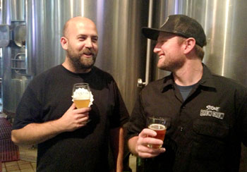 Brewers from Tustin Brewing Company and Stone Brewing Company