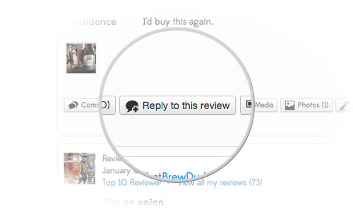 Let everyone know you're listening by replying to user reviews and comments.
