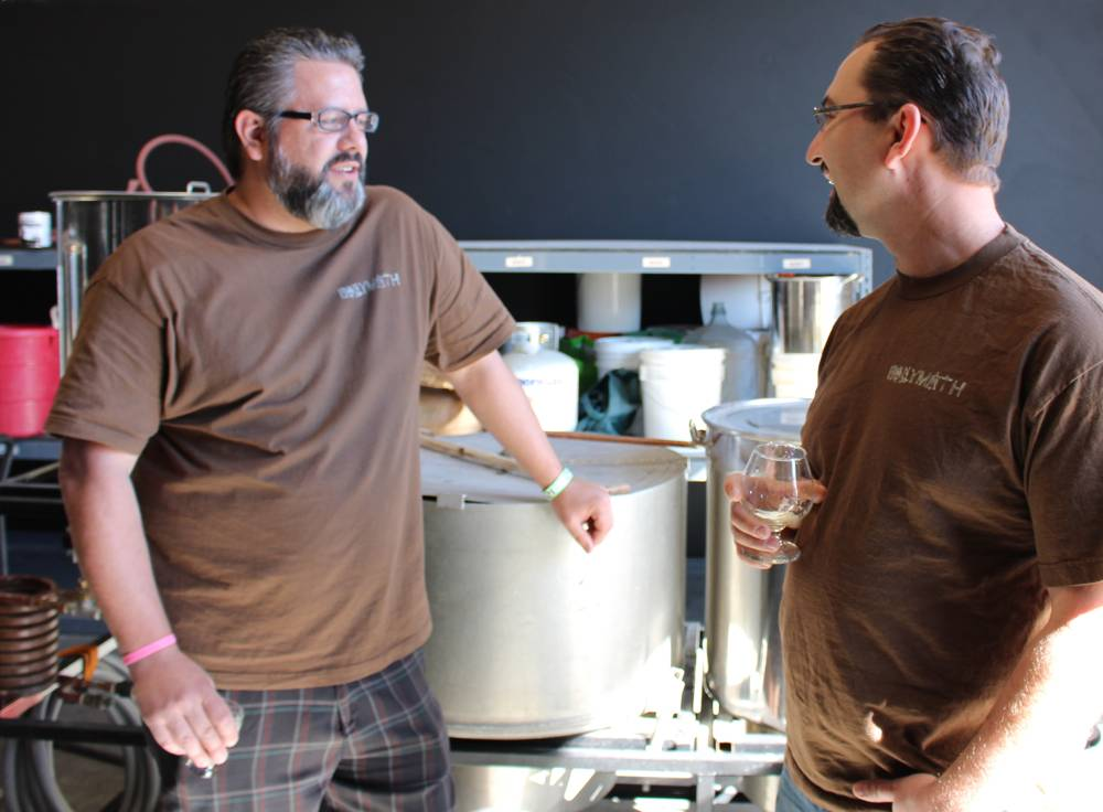 Jason Castonguay and Steve Lewis from Polymath Brewing