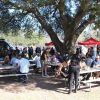 Picnic tables at CaliUncorked.