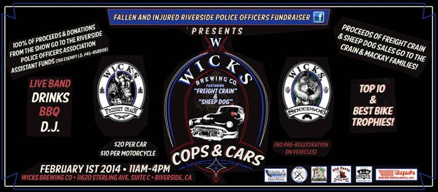 Wicks Brewing Company Cops and Cars Fundraiser