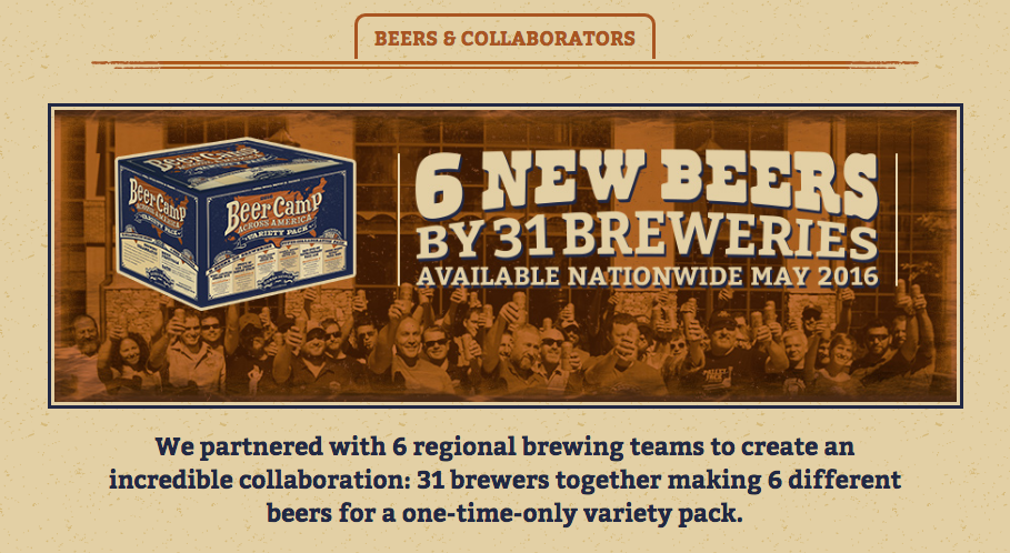2016 Beer Camp Across America Beers Now Available