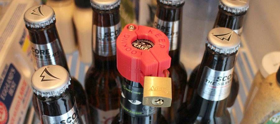Keep Looking Beer Lock