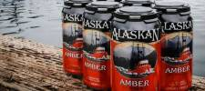 Cans of Alaskan Amber Ale